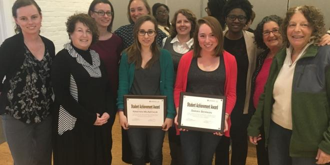 HMS faculty celebrate with the 2016 HMS Student Achievement Award winners! Congrats to Sarah Berman, Hannah Lahey, and Kristen McArthur!!!